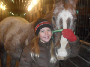 Allison with her horse