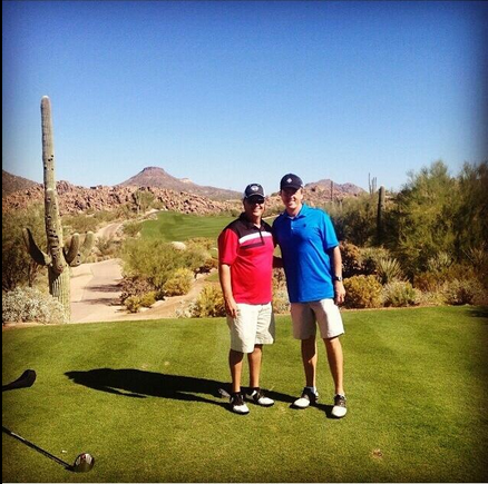 Tom and I golfing in Arizona