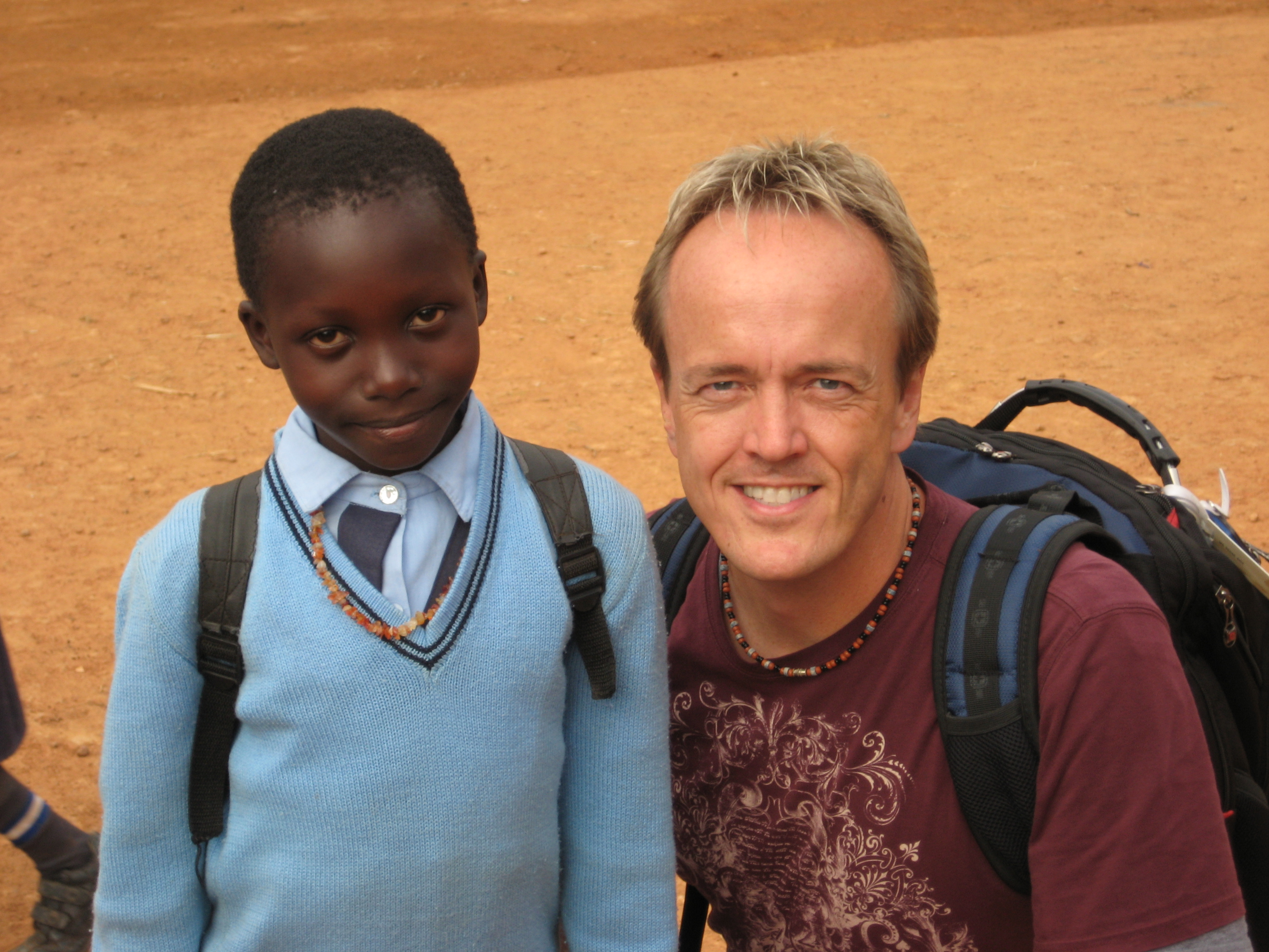 Me and one of our sponsored children Ziana in Uganda